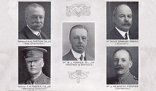 1891 John Foster becomes a private limited liability company - Board of Directors