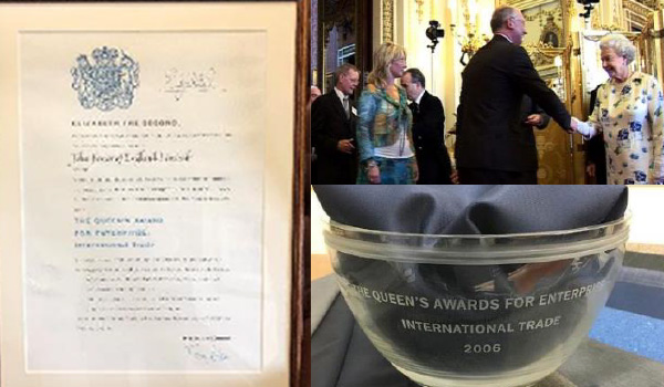 2006 John Foster awarded The Queens Award for Enterprise - International Trade
