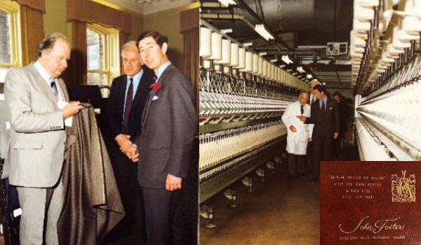 1981 John Foster visit from HRH Prince of Wales to Black Dyke Mills