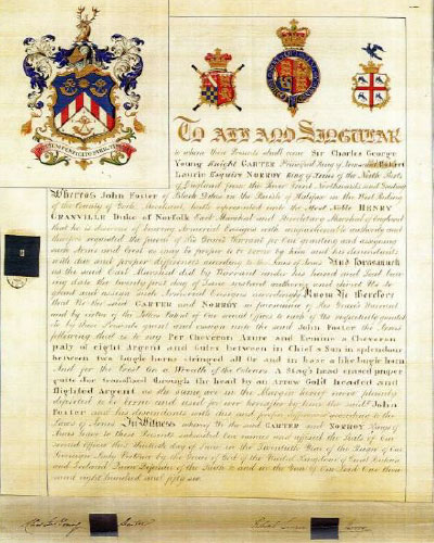 1856 John Foster Coat of Arms