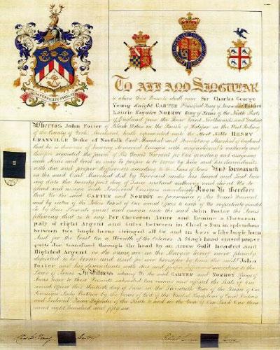 1856 John Foster Coat of Arms