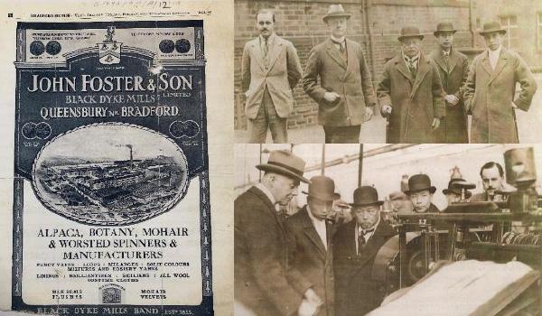 1924 John Foster, Black Dyke mill visit from Chinese ex-president